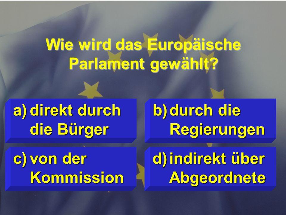 Wie wird das Europäische Parlament gewählt