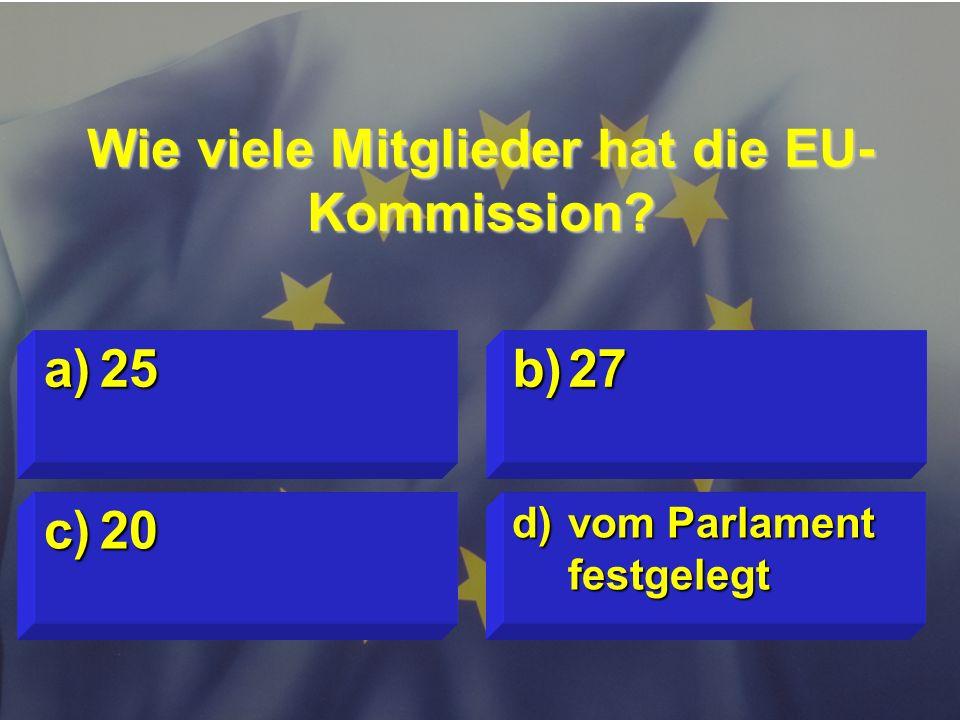 Wie viele Mitglieder hat die EU-Kommission