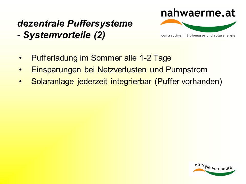 dezentrale Puffersysteme - Systemvorteile (2)