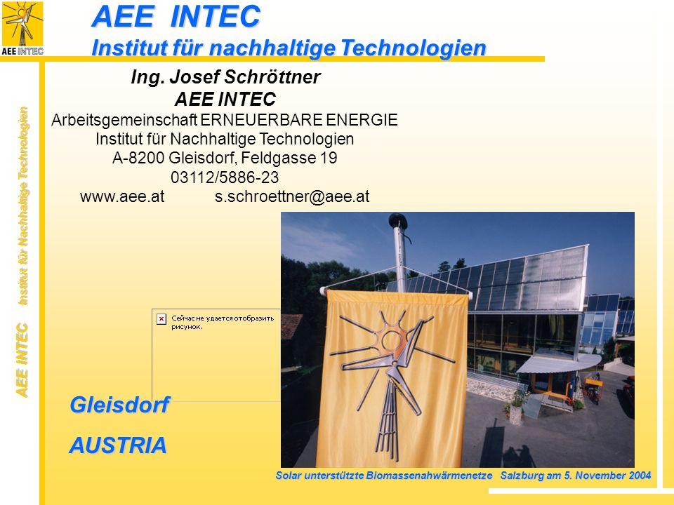 AEE INTEC Institut für nachhaltige Technologien