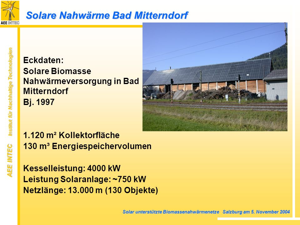Solare Nahwärme Bad Mitterndorf