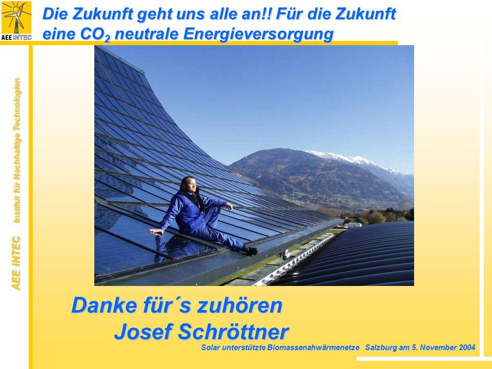 Danke für´s zuhören Josef Schröttner