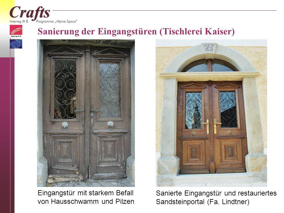 Sanierung der Eingangstüren (Tischlerei Kaiser)