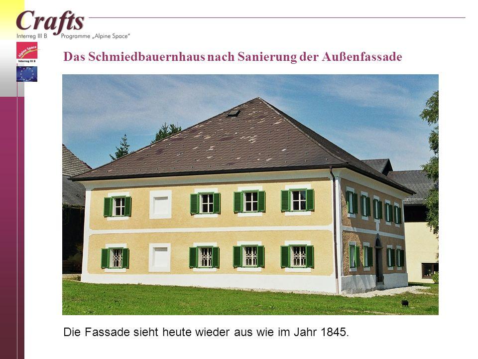 Das Schmiedbauernhaus nach Sanierung der Außenfassade