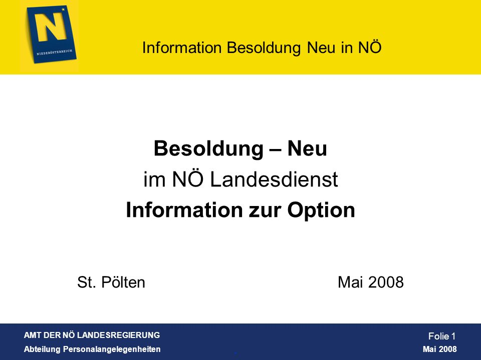 Information zur Option