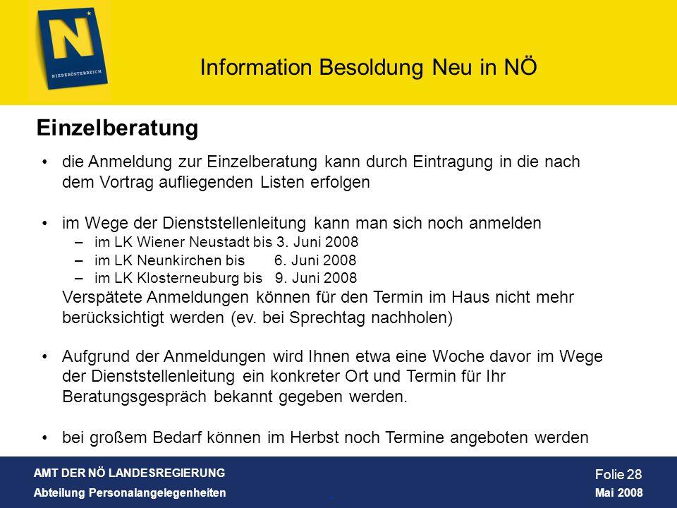 Einzelberatung die Anmeldung zur Einzelberatung kann durch Eintragung in die nach dem Vortrag aufliegenden Listen erfolgen.