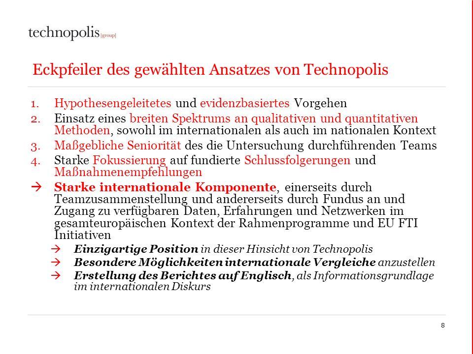 Eckpfeiler des gewählten Ansatzes von Technopolis