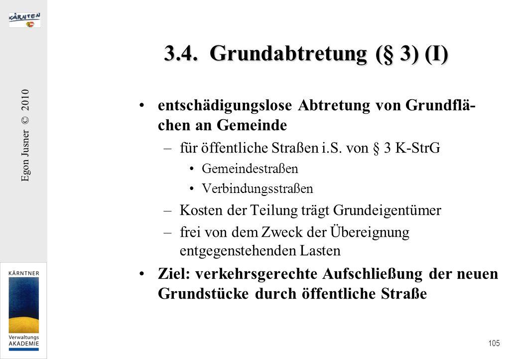 3.4. Grundabtretung (§ 3) (I)