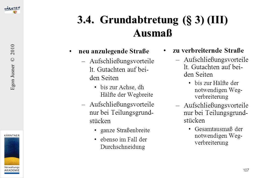 3.4. Grundabtretung (§ 3) (III) Ausmaß