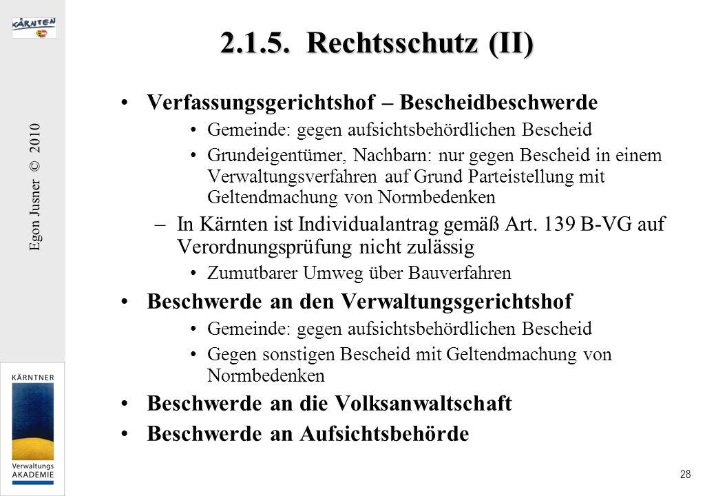 2.1.5. Rechtsschutz (II) Verfassungsgerichtshof – Bescheidbeschwerde