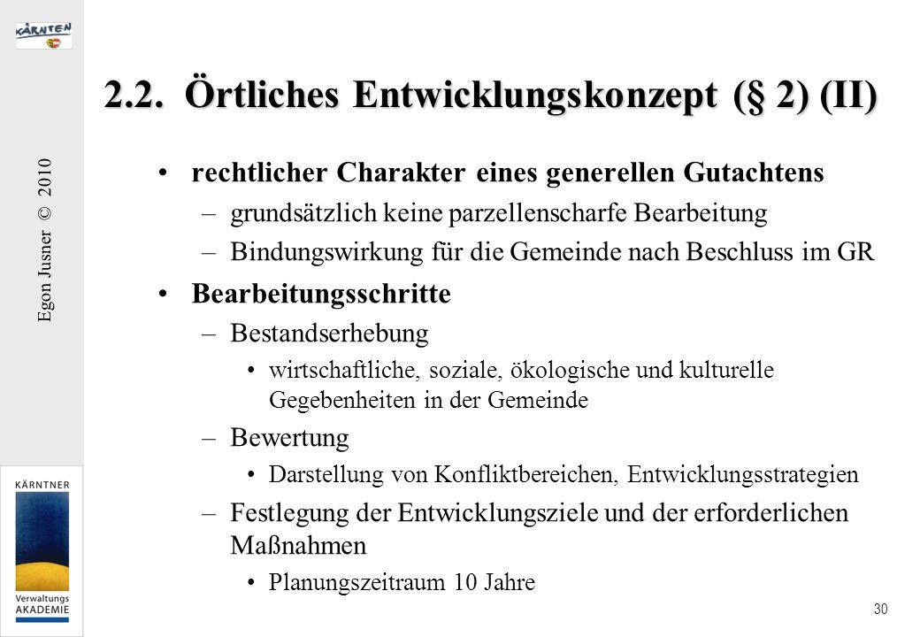 2.2. Örtliches Entwicklungskonzept (§ 2) (II)