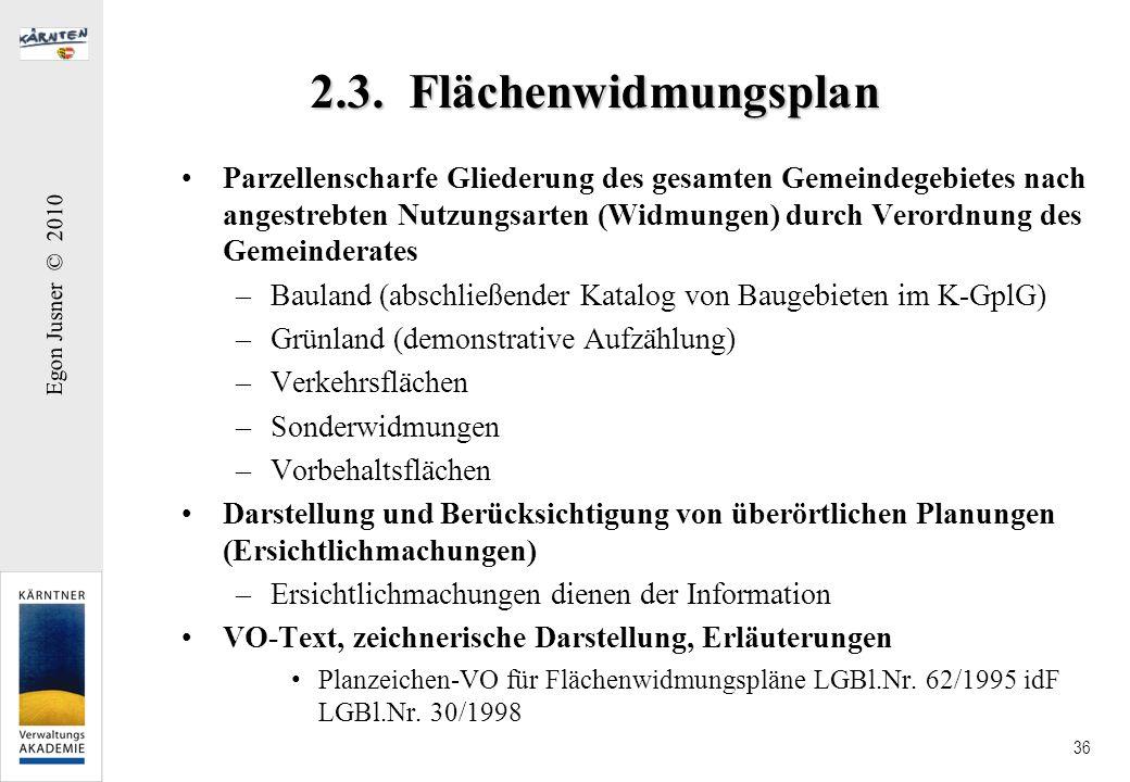 2.3. Flächenwidmungsplan