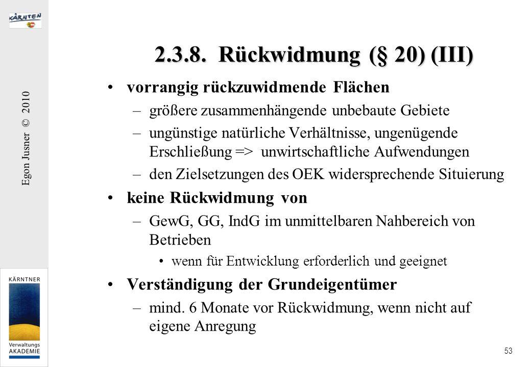 2.3.8. Rückwidmung (§ 20) (III) vorrangig rückzuwidmende Flächen
