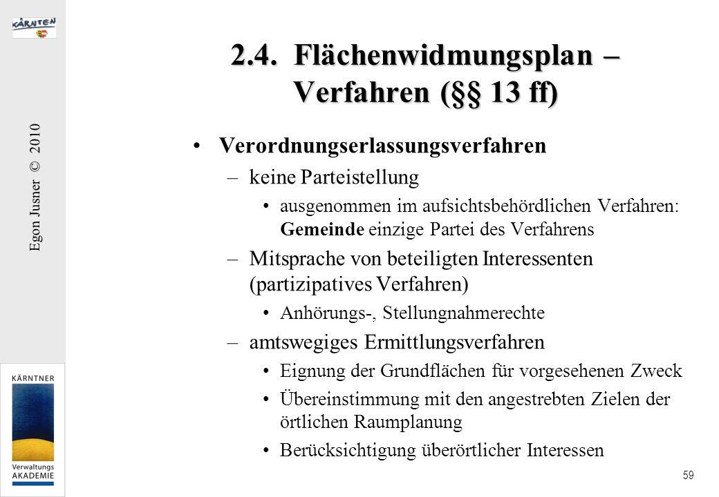 2.4. Flächenwidmungsplan – Verfahren (§§ 13 ff)