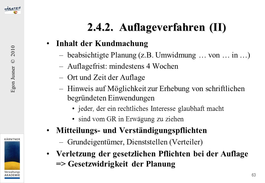 2.4.2. Auflageverfahren (II)