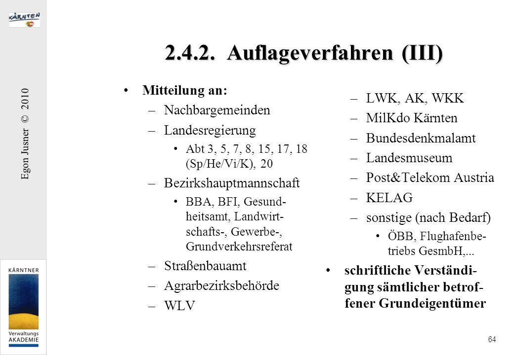 2.4.2. Auflageverfahren (III)