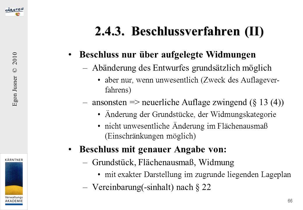 2.4.3. Beschlussverfahren (II)