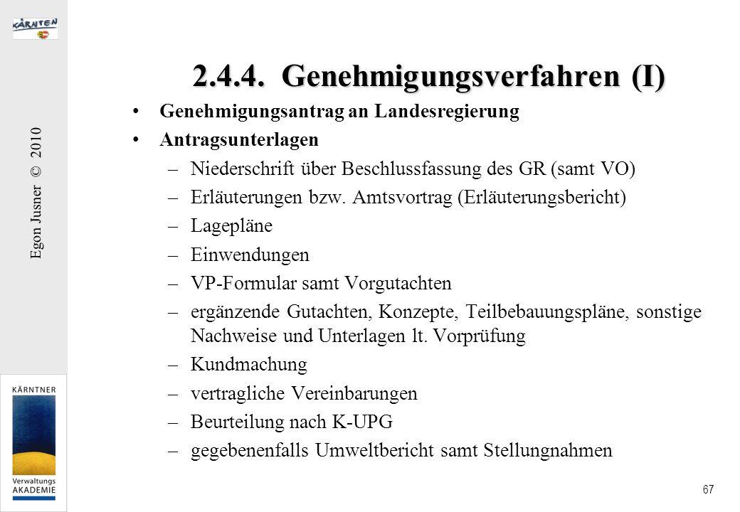 2.4.4. Genehmigungsverfahren (I)