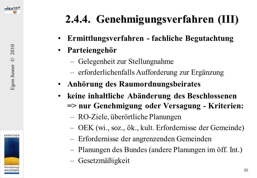 2.4.4. Genehmigungsverfahren (III)