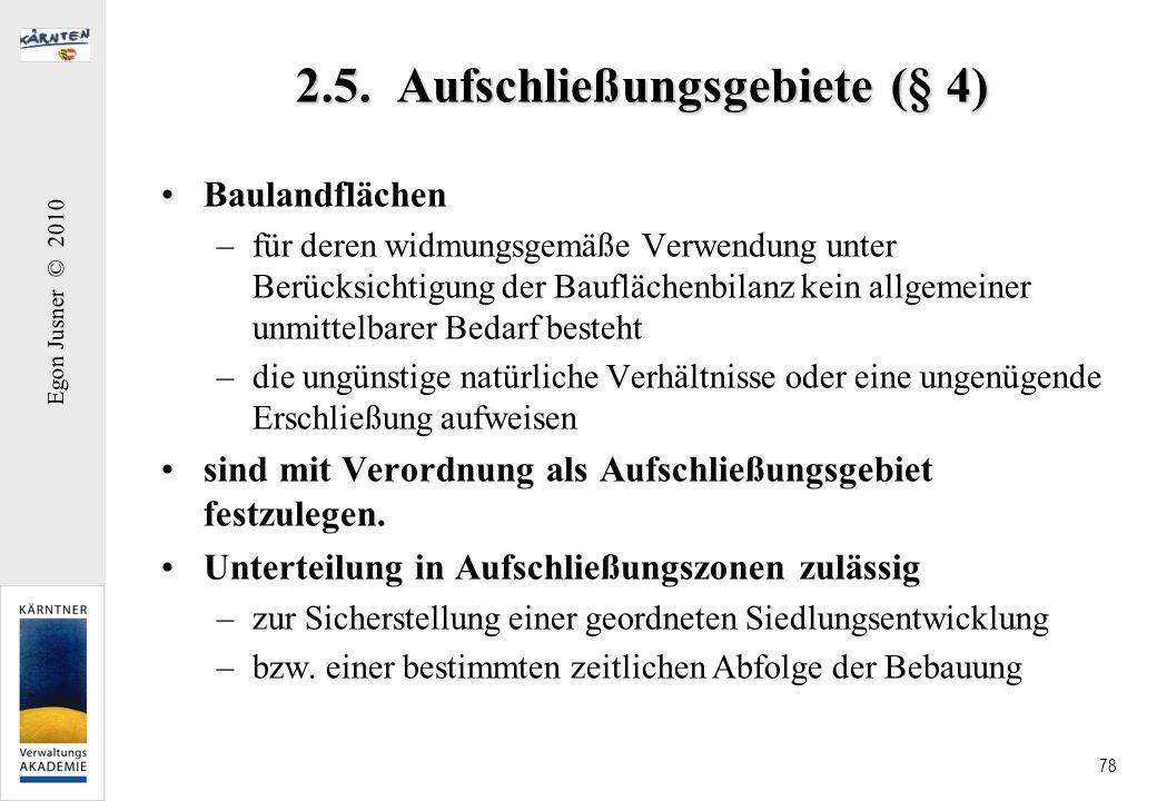 2.5. Aufschließungsgebiete (§ 4)