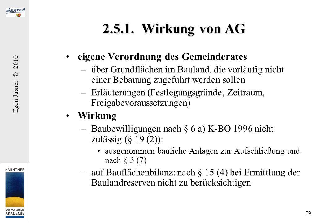 2.5.1. Wirkung von AG eigene Verordnung des Gemeinderates Wirkung
