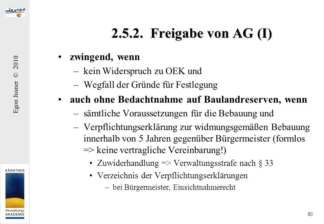2.5.2. Freigabe von AG (I) zwingend, wenn