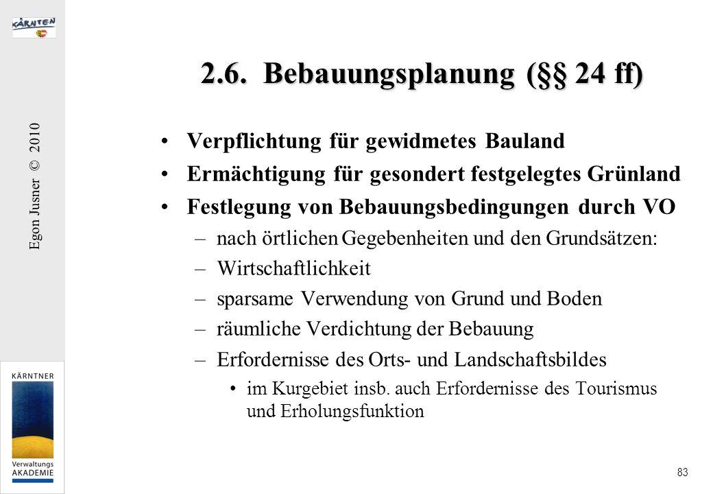 2.6. Bebauungsplanung (§§ 24 ff)