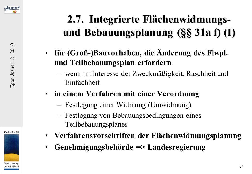 2.7. Integrierte Flächenwidmungs- und Bebauungsplanung (§§ 31a f) (I)