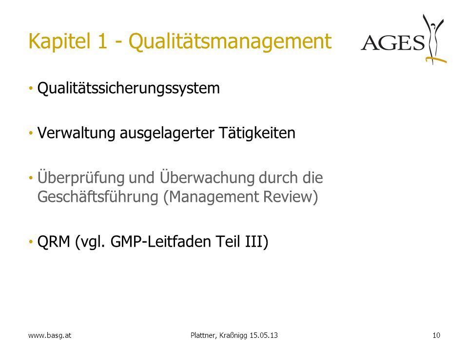 Kapitel 1 - Qualitätsmanagement