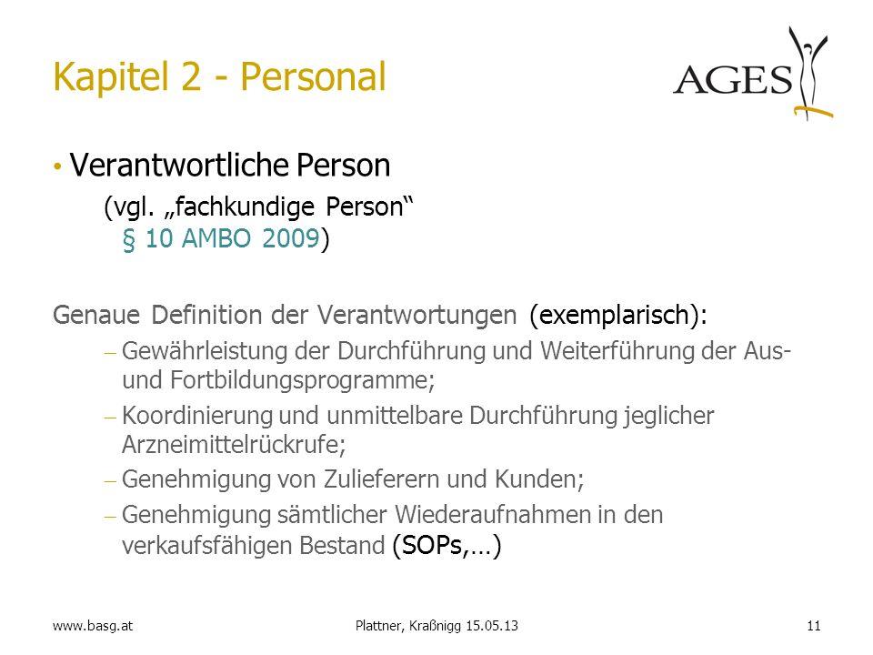Kapitel 2 - Personal Verantwortliche Person