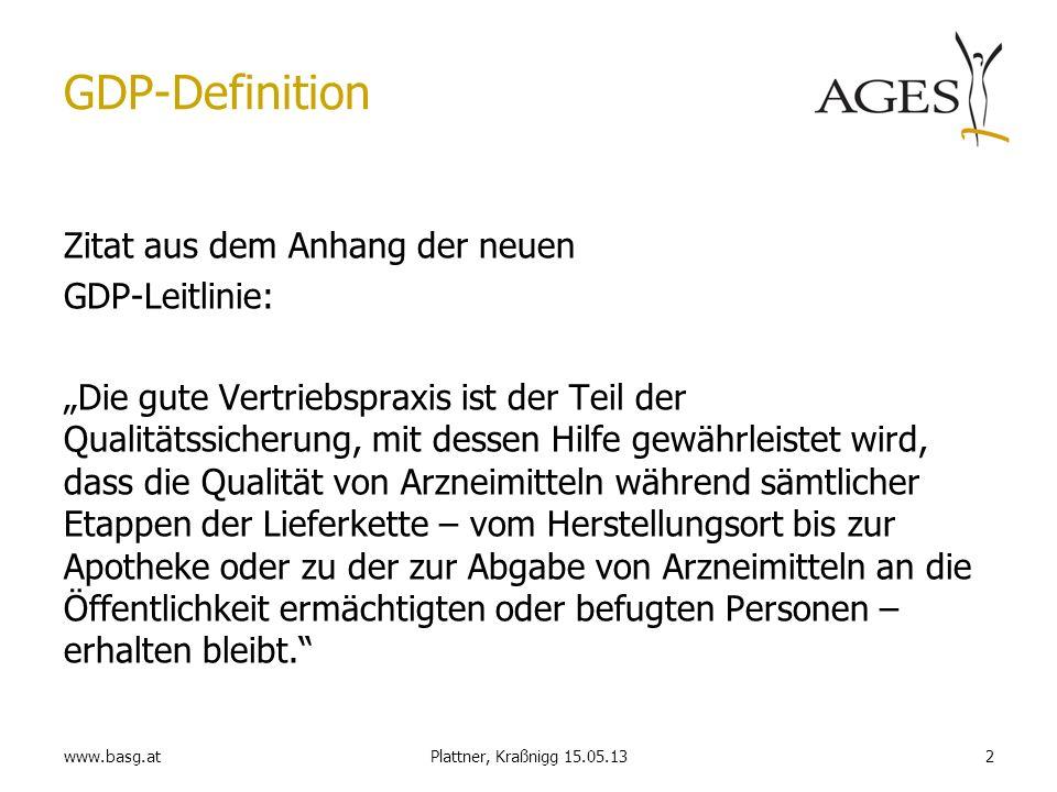 GDP-Definition Zitat aus dem Anhang der neuen GDP-Leitlinie: