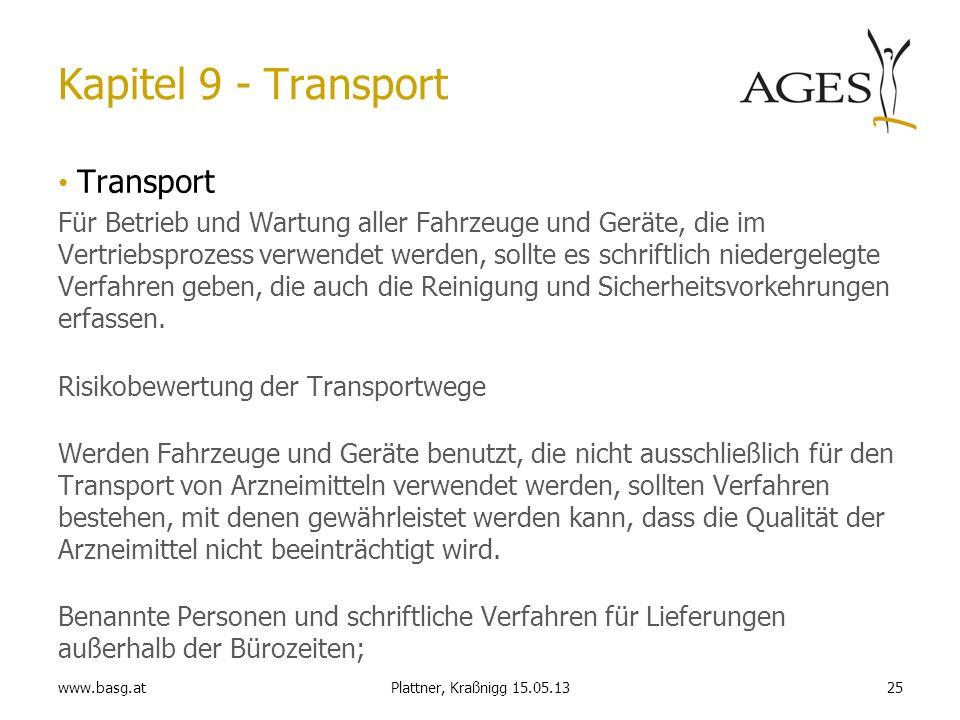 Kapitel 9 - Transport Transport
