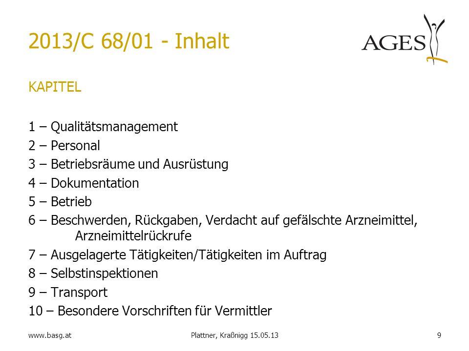 2013/C 68/01 - Inhalt KAPITEL 1 – Qualitätsmanagement 2 – Personal