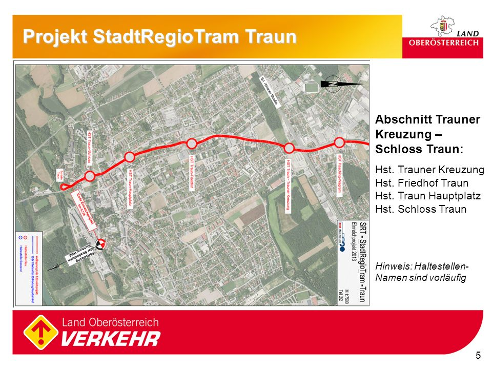 Projekt StadtRegioTram Traun