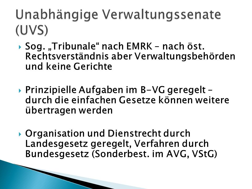 "Sog. ""Tribunale nach EMRK – nach öst"