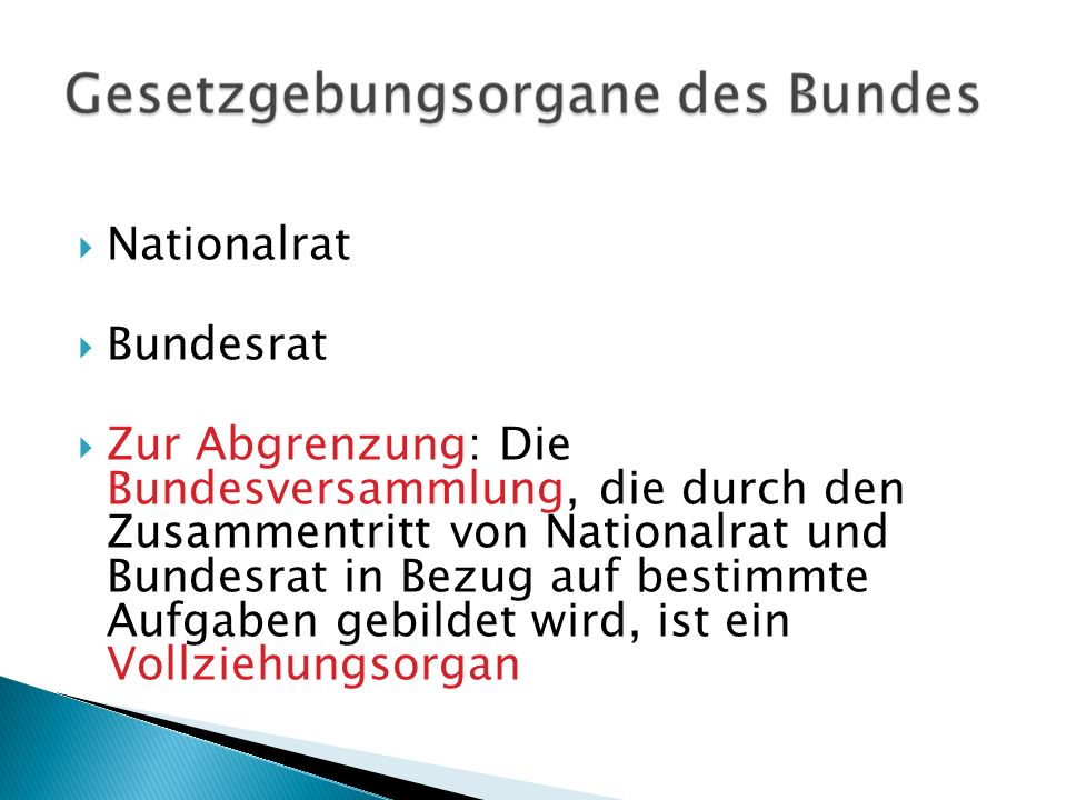 Nationalrat Bundesrat.