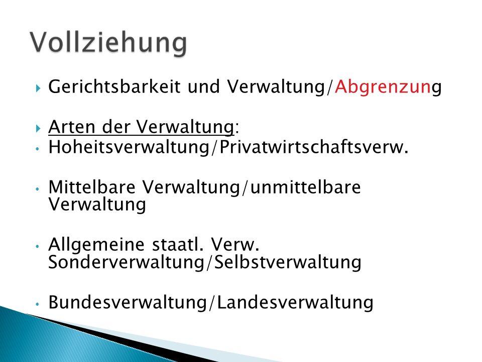 Gerichtsbarkeit und Verwaltung/Abgrenzung