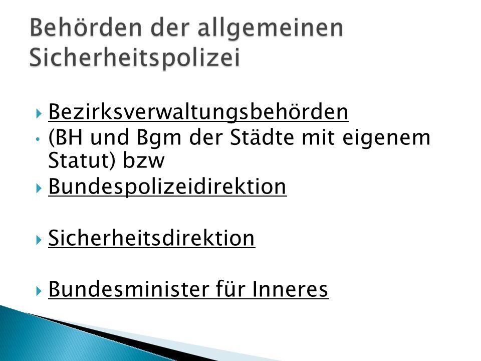 Bezirksverwaltungsbehörden