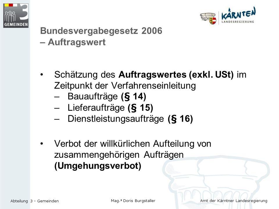 Bundesvergabegesetz 2006 – Auftragswert