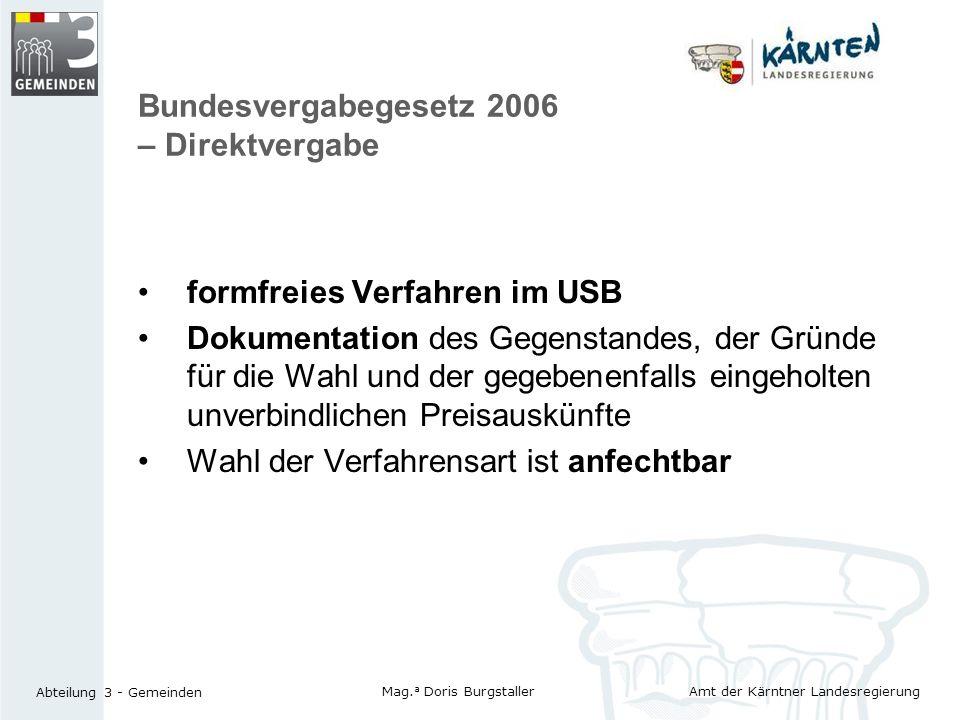 Bundesvergabegesetz 2006 – Direktvergabe