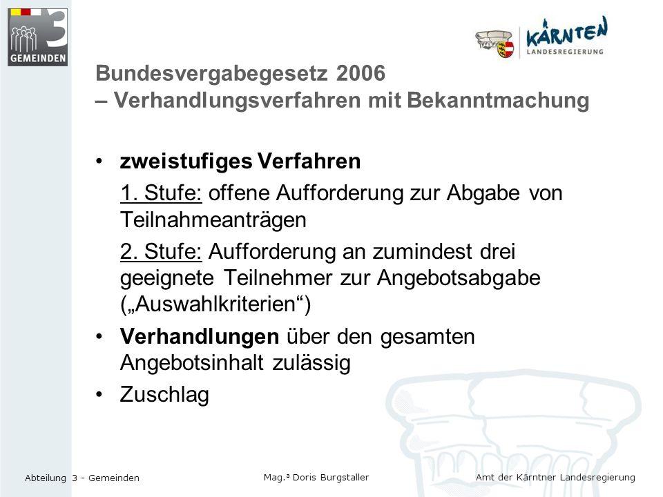 Bundesvergabegesetz 2006 – Verhandlungsverfahren mit Bekanntmachung