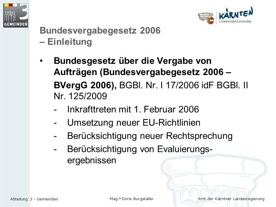 Bundesvergabegesetz 2006 – Einleitung