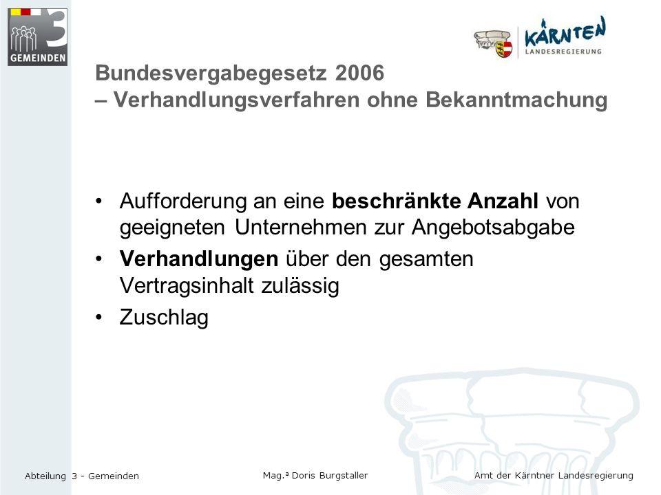 Bundesvergabegesetz 2006 – Verhandlungsverfahren ohne Bekanntmachung