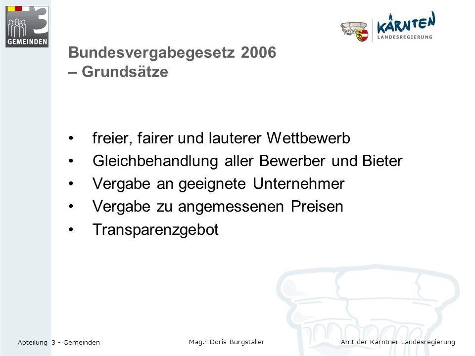 Bundesvergabegesetz 2006 – Grundsätze
