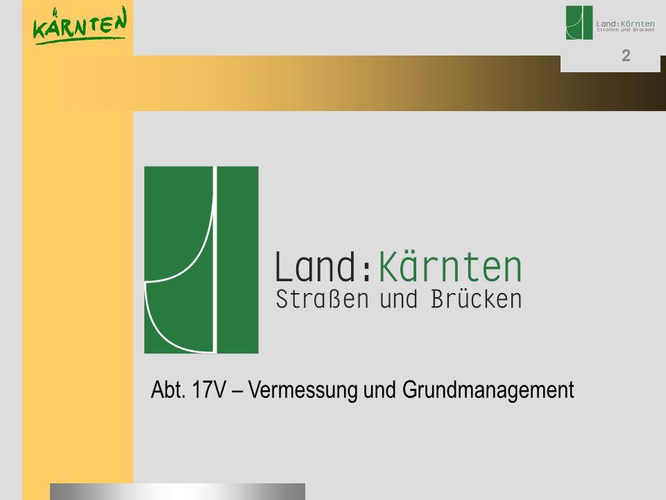 Abt. 17V – Vermessung und Grundmanagement