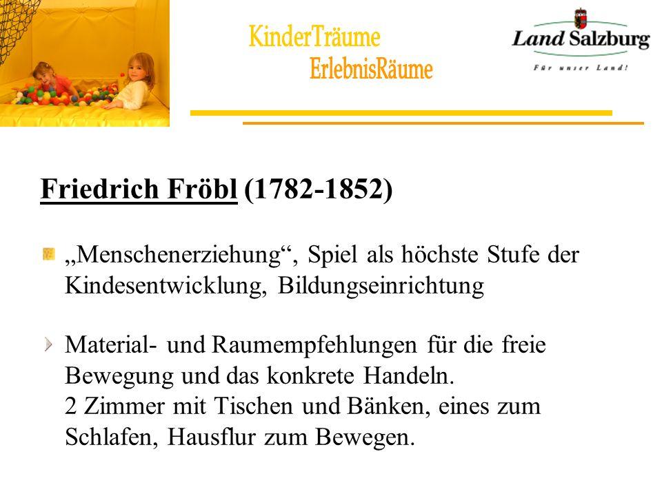 """Friedrich Fröbl (1782-1852) """"Menschenerziehung , Spiel als höchste Stufe der Kindesentwicklung, Bildungseinrichtung."""