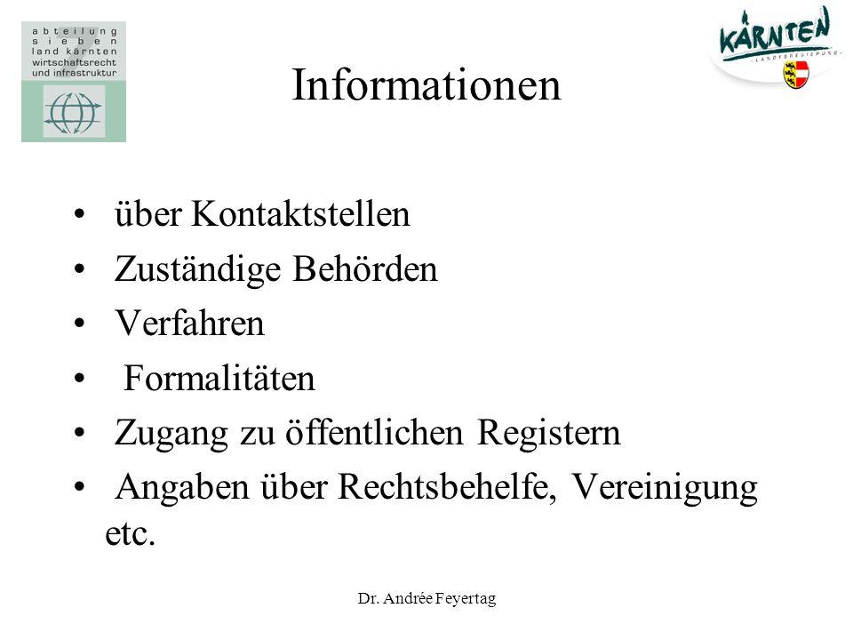 Informationen über Kontaktstellen Zuständige Behörden Verfahren