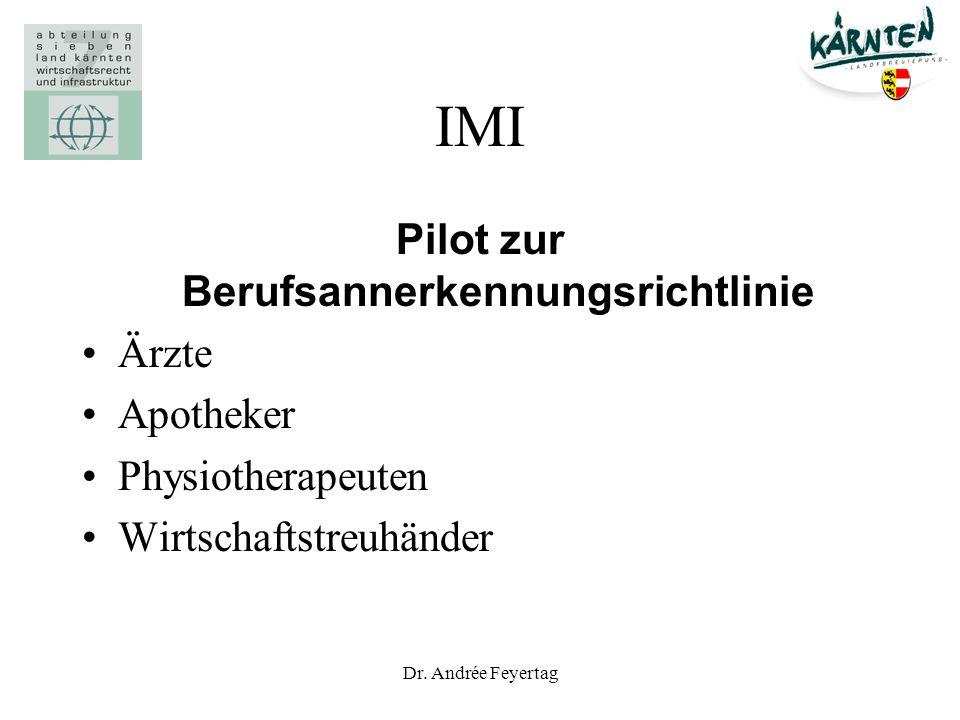 Pilot zur Berufsannerkennungsrichtlinie