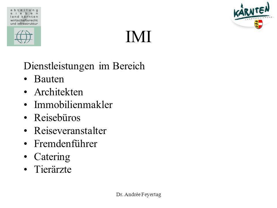 IMI Dienstleistungen im Bereich Bauten Architekten Immobilienmakler