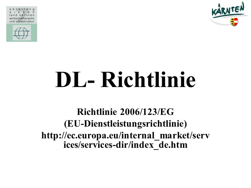 (EU-Dienstleistungsrichtlinie)